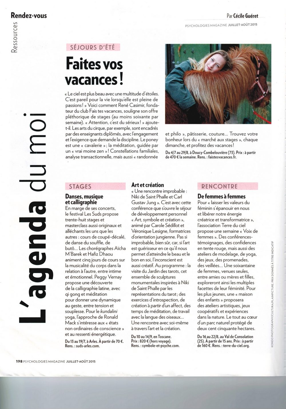 faistesvacances vu par psychologies magazine
