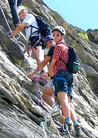 stage Cours Via Ferrata