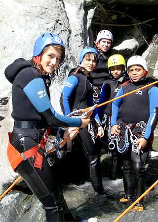 stage Cours de Canyoning